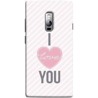 FUSON Designer Back Case Cover for OnePlus 2 :: OnePlus Two :: One Plus 2 (Just Pinky Say Always I Love You Red Hearts Couples)