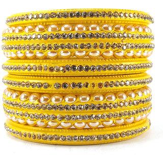 Sukriti Rajasthani Wedding Yellow Lac Bangles for Women - Set of 6
