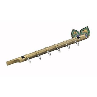 Bansuri Antique Finish 5-Pin Key holder ( Hardware Fittings) Pack-3 Key hook holder / decorative wall hanging