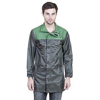 Versalis Mens BI Rain Coat (Olive Green - L)