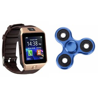 Mirza DZ09 Smart Watch and Fidget Spinner for MICROMAX CANVAS POWER(DZ09 Smart Watch With 4G Sim Card, Memory Card| Fidget Spinner)