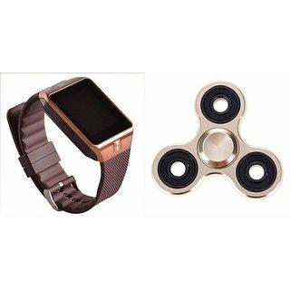 Mirza DZ09 Smart Watch and Fidget Spinner for MICROMAX BOLT Q324(DZ09 Smart Watch With 4G Sim Card, Memory Card| Fidget Spinner)