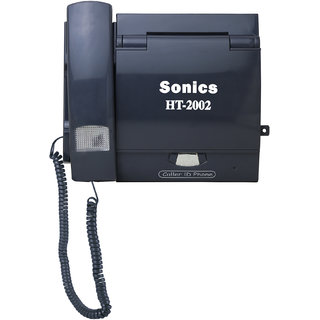 Sonics Caller ID Hands Free Speaker Phone with Extra Locking Facility HT-2002 ( Grey )
