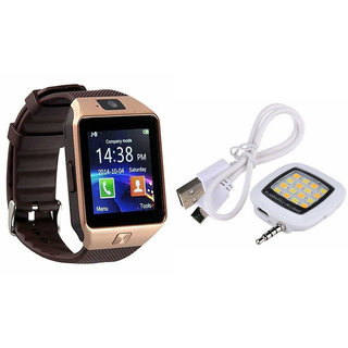 Mirza DZ09 Smart Watch and Mobile Flash for LG g flex (DZ09 Smart Watch  With 4G Sim Card, Memory Card| Mobile Flash, Selfie Flash)