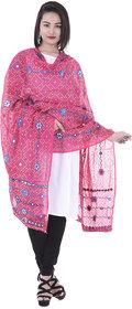 Indian Handicraft Women Ethnic Circle Design gotta patti work Chiffon Duppta 2.30 Mtr.