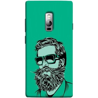 FUSON Designer Back Case Cover for OnePlus 2 :: OnePlus Two :: One Plus 2 (Full Thick Black Beard Man Men Glasses Mustache)