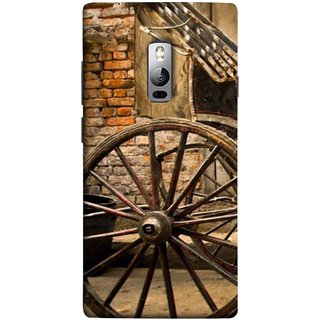 FUSON Designer Back Case Cover for OnePlus 2 :: OnePlus Two :: One Plus 2 (Wheel Hay Cart Old Wagons Indian Cycle Rickshow)