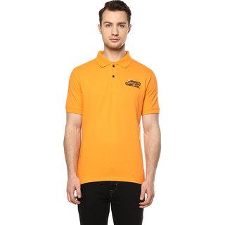 Griffel Men's Orange Polo Collar T-shirt