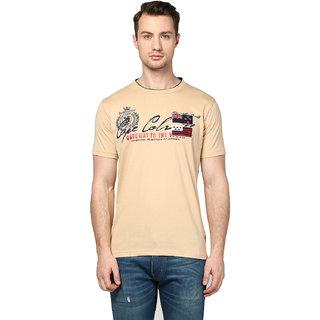 Griffel Men's Cream Round Neck T-shirt