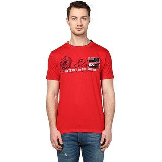 Griffel Men's Red Round Neck T-shirt