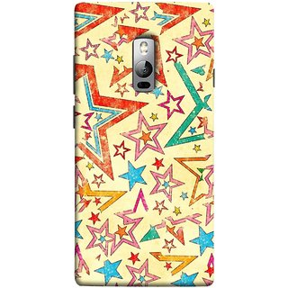 FUSON Designer Back Case Cover for OnePlus 2 :: OnePlus Two :: One Plus 2 (Vector Abstract Background Of Colorful 3D Stars)