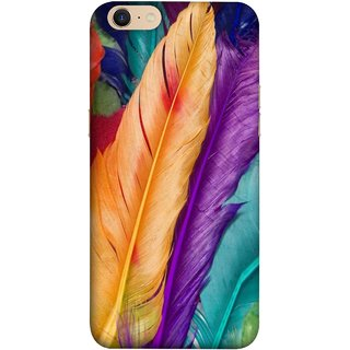 FUSON Designer Back Case Cover For Oppo A39 (Birds Feathers Parrot Peacock Best Cover Design)