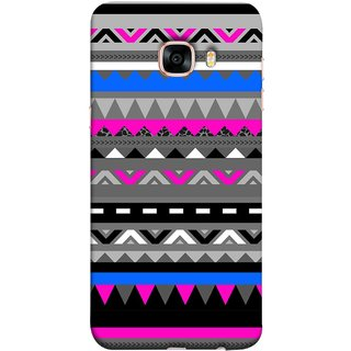 FUSON Designer Back Case Cover for Samsung Galaxy C7 SM-C7000 (Tribal Patterns Colourful Eye Catching Verity Different )