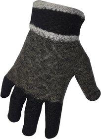 Unisex Woolen Full Fingered Hand Glove - Multi Color
