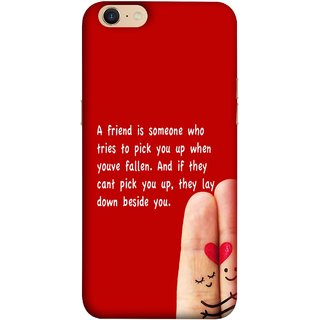 FUSON Designer Back Case Cover For Oppo A39 (Up When You Have Fallen If They Can'T Pick You )