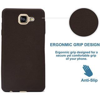 ECS Back Case,Matte Finish [Grip Texture] Shock Absorbing Soft Back Case Cover With Camera Protection For Vivo V5 / V5s / Y66 / V5 Lite - Black