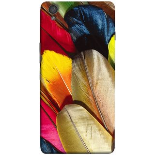 FUSON Designer Back Case Cover for OnePlus X :: One Plus X (Yellow Balck Brown Golden Gold Silver Parrot Red )
