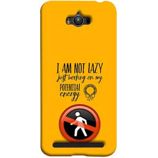 FUSON Designer Back Case Cover For Asus Zenfone Max ZC550KL :: Asus Zenfone Max ZC550KL 2016 :: Asus Zenfone Max ZC550KL 6A076IN (Potential Energy Your Emotions No Walk Sign)