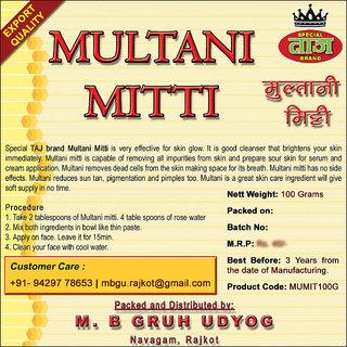 MULTANI MITTI- Facepack- 100 Natural Best Quality