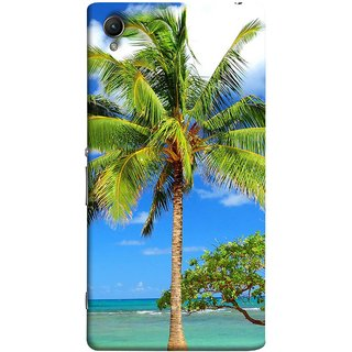 FUSON Designer Back Case Cover For Sony Xperia Z2 (5.2 Inches) (Palmtrees At The Beach Sea Blue Sky New Horizons )