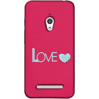 FUSON Designer Back Case Cover For Asus Zenfone Go ZC500TG (5 Inches) (Best Gift For Valentine Friends Lovers Couples Baby Pink Red )