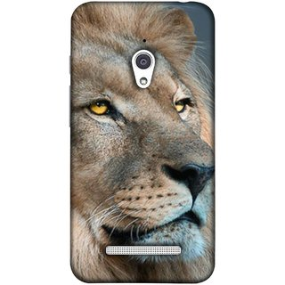 FUSON Designer Back Case Cover For Asus Zenfone Go ZC500TG (5 Inches) (Jungle King Stearing Aslan Painting Oil Art )