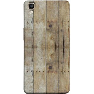 FUSON Designer Back Case Cover for Oppo F1 Plus :: Oppo R9 (Wooden Back Cover Plates Nails Cracks Joints)