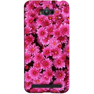 FUSON Designer Back Case Cover For Asus Zenfone Max ZC550KL :: Asus Zenfone Max ZC550KL 2016 :: Asus Zenfone Max ZC550KL 6A076IN (Thousands Flowers Magenta Mums Nature Pink)