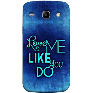 FUSON Designer Back Case Cover for Samsung Galaxy Core I8260 :: Samsung Galaxy Core Duos I8262 (Baby Couples Nice Quotes Happy Lovely Hard Kisses )