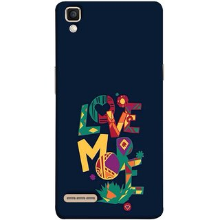 Buy Fuson Designer Back Case Cover For Oppo F1 A35 I Love You