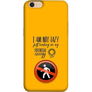 FUSON Designer Back Case Cover For Oppo A39 (Potential Energy Your Emotions No Walk Sign)