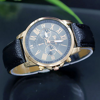 Royal Black Designer Analog Exclusive Leather Watch