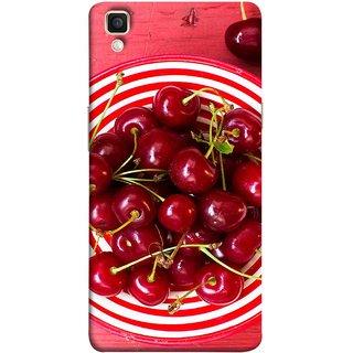 FUSON Designer Back Case Cover for Oppo F1 Plus :: Oppo R9 (Plump Dark Red Farm Fresh Very Tasty )