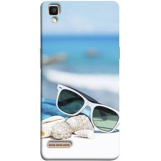 FUSON Designer Back Case Cover for Oppo F1 :: A35 (Summer Vacation Beach Mobile Wallpaper Blue Sky )