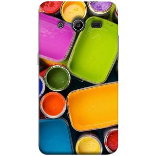 FUSON Designer Back Case Cover for Samsung Galaxy Core 2 G355H :: Samsung Galaxy Core Ii :: Samsung Galaxy Core 2 Dual (Cans And Paint On Colour Background Bright Full Joy )