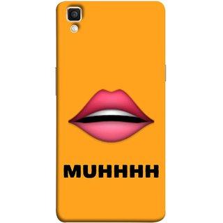 FUSON Designer Back Case Cover for Oppo F1 Plus :: Oppo R9 (Red Lips Pinky Flying Kisses Girl Lovers Couples Hot)