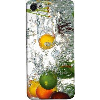 FUSON Designer Back Case Cover For Lenovo Zuk Z2 Plus (Lot Of Green Yellow Lemons Apples Fruits )