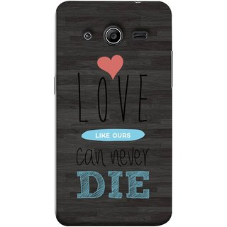 FUSON Designer Back Case Cover for Samsung Galaxy Core 2 G355H :: Samsung Galaxy Core Ii :: Samsung Galaxy Core 2 Dual (Hearts Feeling Loved With Each Other Valentine Day)