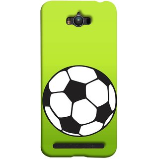 FUSON Designer Back Case Cover For Asus Zenfone Max ZC550KL :: Asus Zenfone Max ZC550KL 2016 :: Asus Zenfone Max ZC550KL 6A076IN (Football Ground Ball Black White Fifa League )