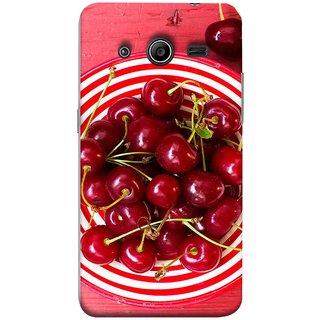 FUSON Designer Back Case Cover for Samsung Galaxy Core 2 G355H :: Samsung Galaxy Core Ii :: Samsung Galaxy Core 2 Dual (Plump Dark Red Farm Fresh Very Tasty )