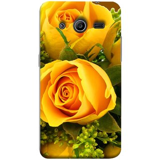 FUSON Designer Back Case Cover for Samsung Galaxy Core 2 G355H :: Samsung Galaxy Core Ii :: Samsung Galaxy Core 2 Dual (Friendship Yellow Roses Chocolate Hearts For Valentines Day)