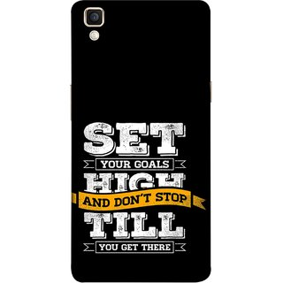 FUSON Designer Back Case Cover for Oppo F1 Plus :: Oppo R9 (Till You Get There Dream Big And Achieve Big )