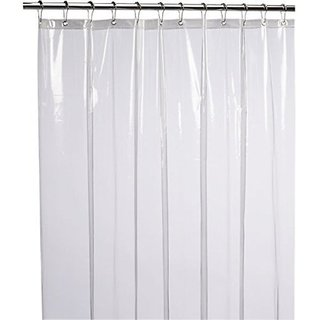 Delfi 0.15mm PVC AC Transparent Curtain (Width-54Inches X Height-96Inches)