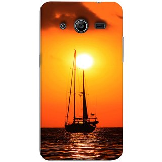 FUSON Designer Back Case Cover for Samsung Galaxy Core 2 G355H :: Samsung Galaxy Core Ii :: Samsung Galaxy Core 2 Dual (Sailboat Sailing On The Beautiful Greek Sea Sunset )