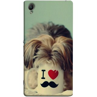 FUSON Designer Back Case Cover For Sony Xperia Z3+ :: Sony Xperia Z3 Plus :: Sony Xperia Z3+ Dual :: Sony Xperia Z3 Plus E6533 E6553 :: Sony Xperia Z4 (Dog Baby Coffee Breakfast Tea Best Morning Loyal )