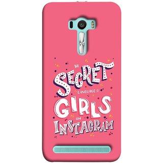 FUSON Designer Back Case Cover For Asus Zenfone Selfie ZD551KL (On Instagram Pink Back Words Best Ladies )