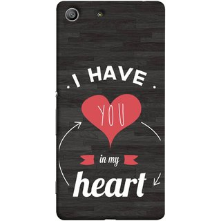 FUSON Designer Back Case Cover For Sony Xperia Z3 Compact :: Sony Xperia Z3 Mini (Love Circle Life Long You Always In My Hearts)