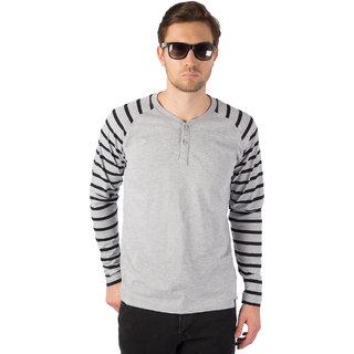 e88ab5b1185 Buy Rodid Striped Men s Henley Grey