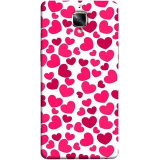 FUSON Designer Back Case Cover For Oneplus 3T (Abstract Love Heart Background Lovers Valentine)