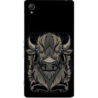 FUSON Designer Back Case Cover For Sony Xperia Z3+ :: Sony Xperia Z3 Plus :: Sony Xperia Z3+ Dual :: Sony Xperia Z3 Plus E6533 E6553 :: Sony Xperia Z4 (Bull Head Short Horn Ears Butcher Farm Animal)